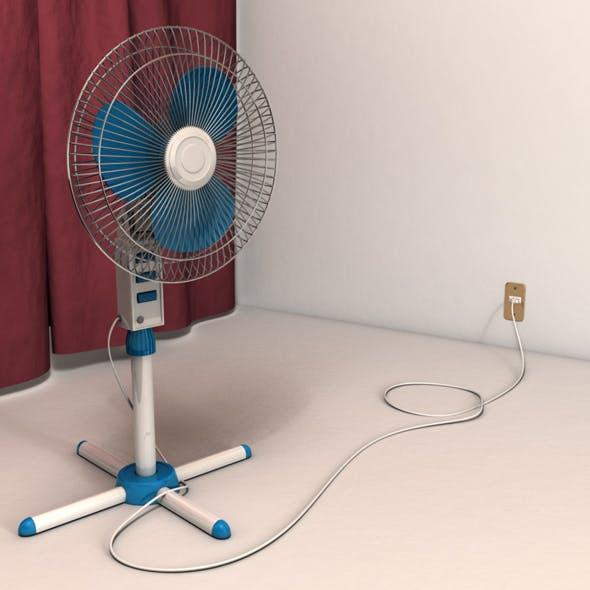 Photorealistic Fan - Ready to Render - 3DOcean Item for Sale