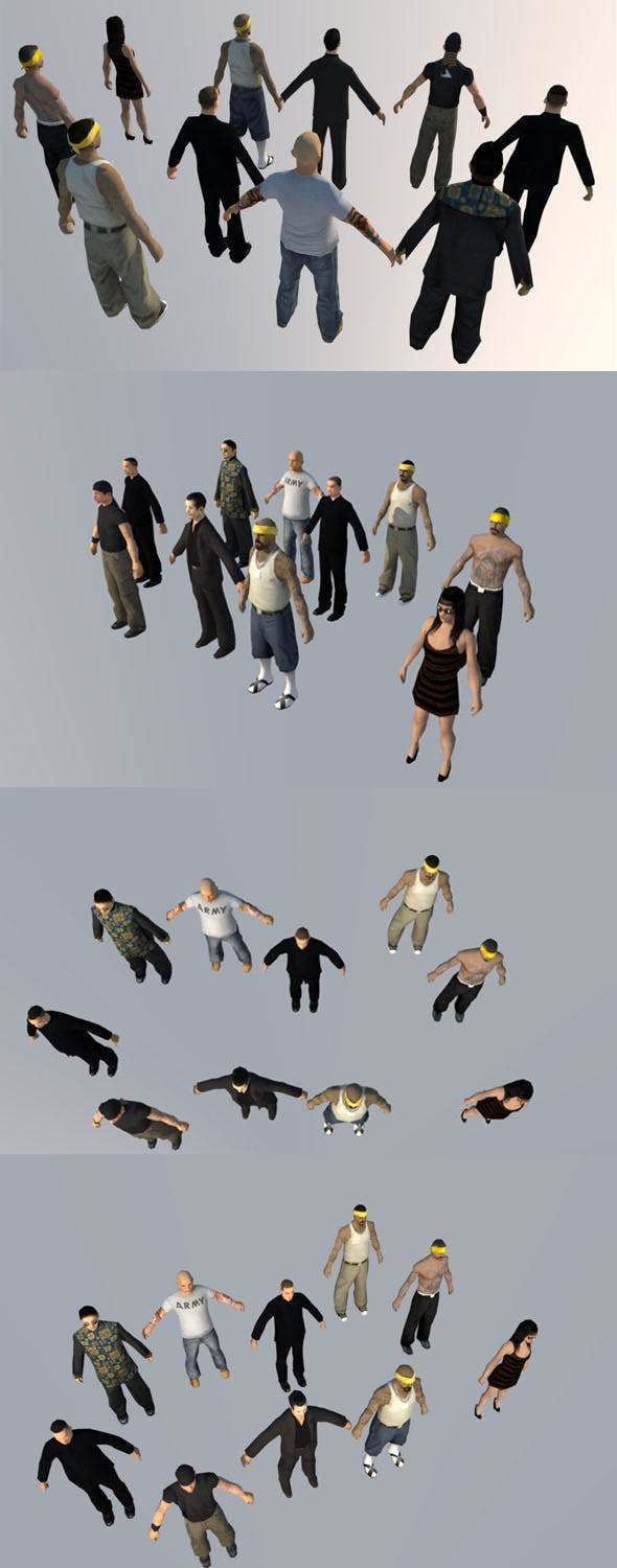 10 low-poly PEOPLE part5 - 3DOcean Item for Sale