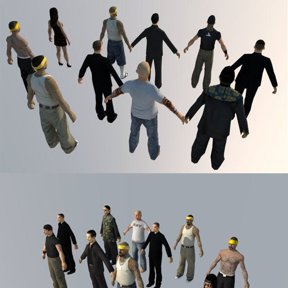 10 low-poly PEOPLE part5