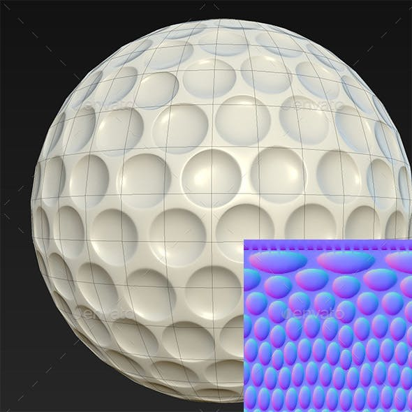 Normal Map for Golf Ball 4K