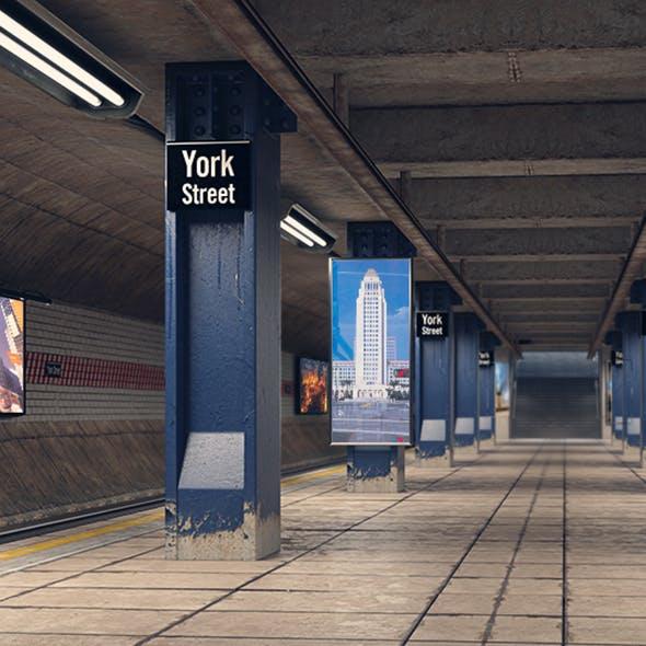 Subway Station - 3DOcean Item for Sale