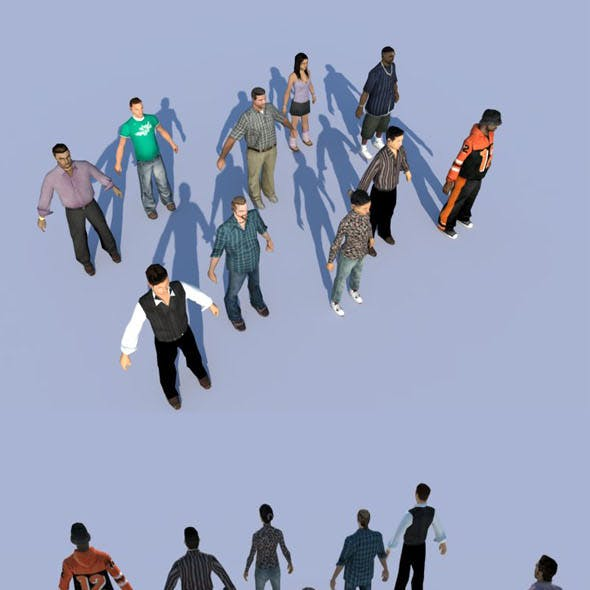 10 LOW POLY PEOPLE part4