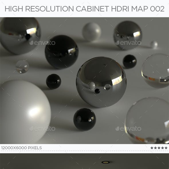 High Resolution Cabinet HDRi Map 002