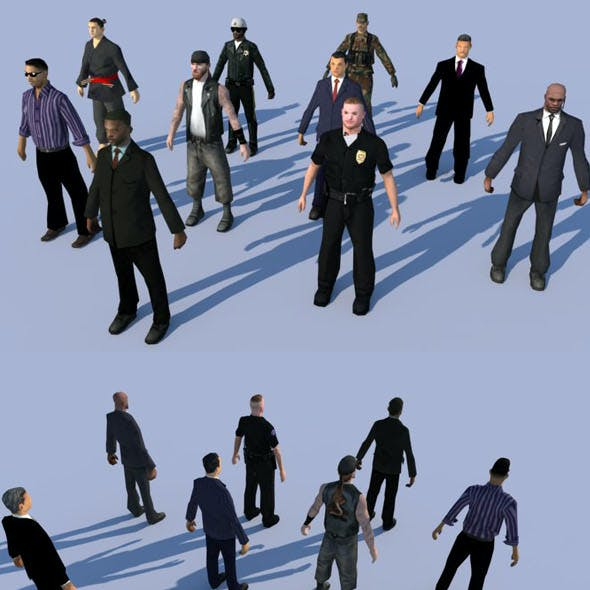10 LOW POLY PEOPLE part3