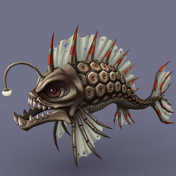 Angry fish - 3DOcean Item for Sale