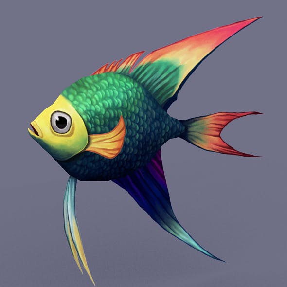 Rainbow_fish - 3DOcean Item for Sale