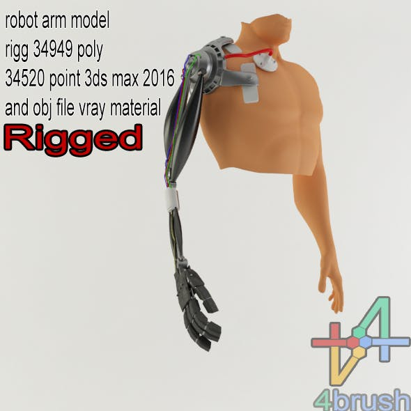robo arm rigged - 3DOcean Item for Sale