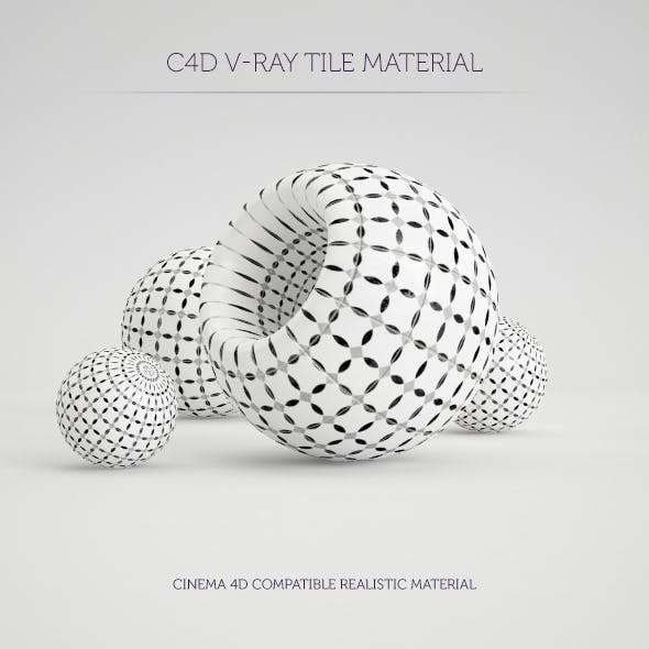 C4D V-Ray Marrakesh Tile Material