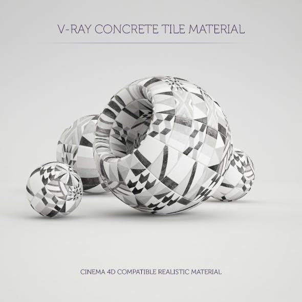 C4D V-Ray Concrete Tile Material