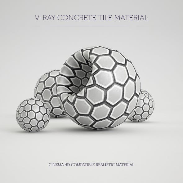 C4D V-Ray Hexagon Tile Material