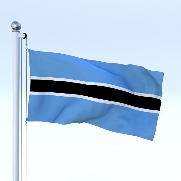 Animated Botswana Flag