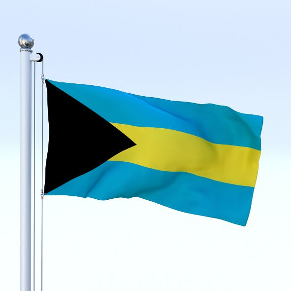 Animated Bahamas Flag - 3DOcean Item for Sale