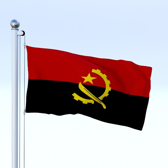 Animated Angola Flag