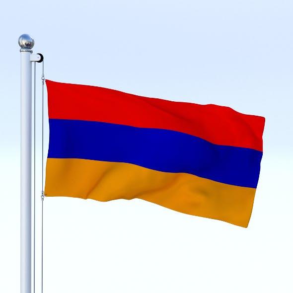 Animated Armenia Flag