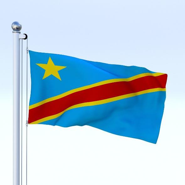 Animated Democratic Republic of Congo Flag