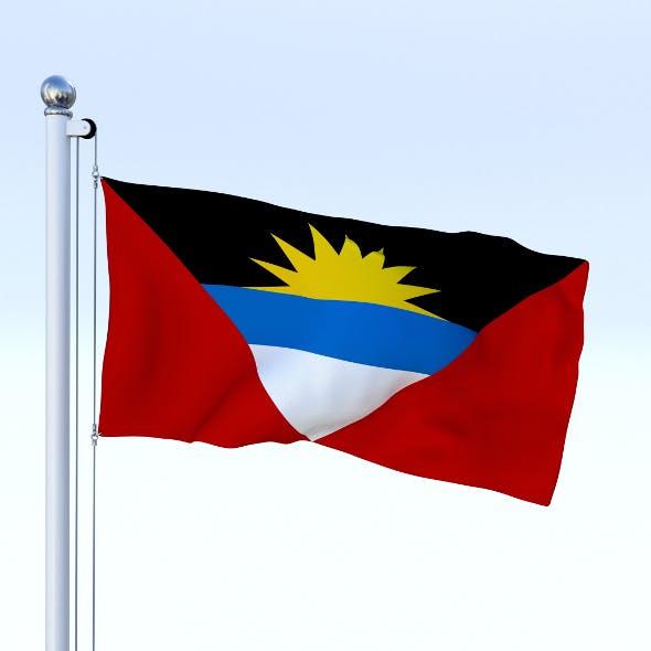 Animated Antigua and Barbuda Flag