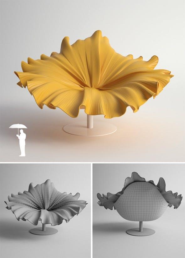 Bloom chair - 3DOcean Item for Sale