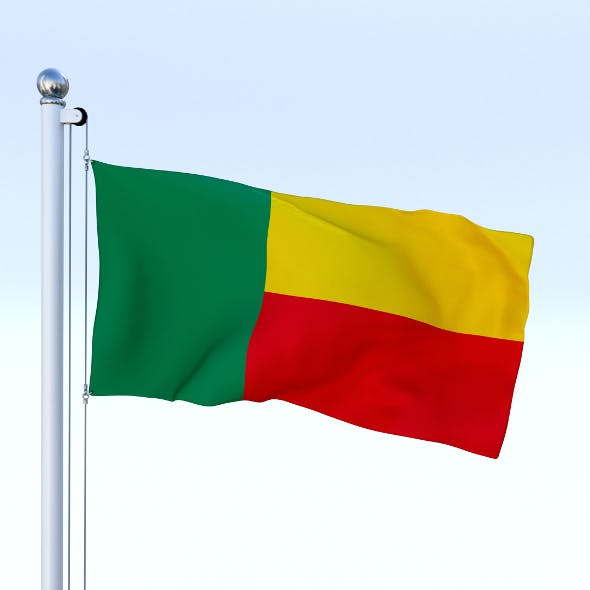 Animated Benin Flag