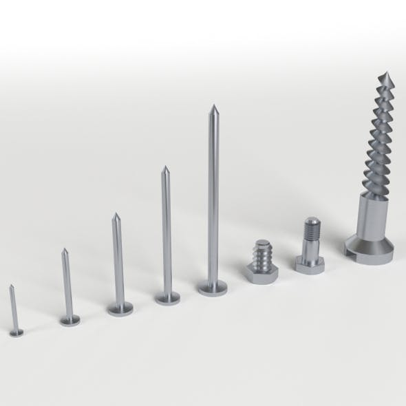 Iron Nail and Screws set