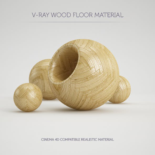 C4D V-Ray Parquet Wood Floor Material - 3DOcean Item for Sale