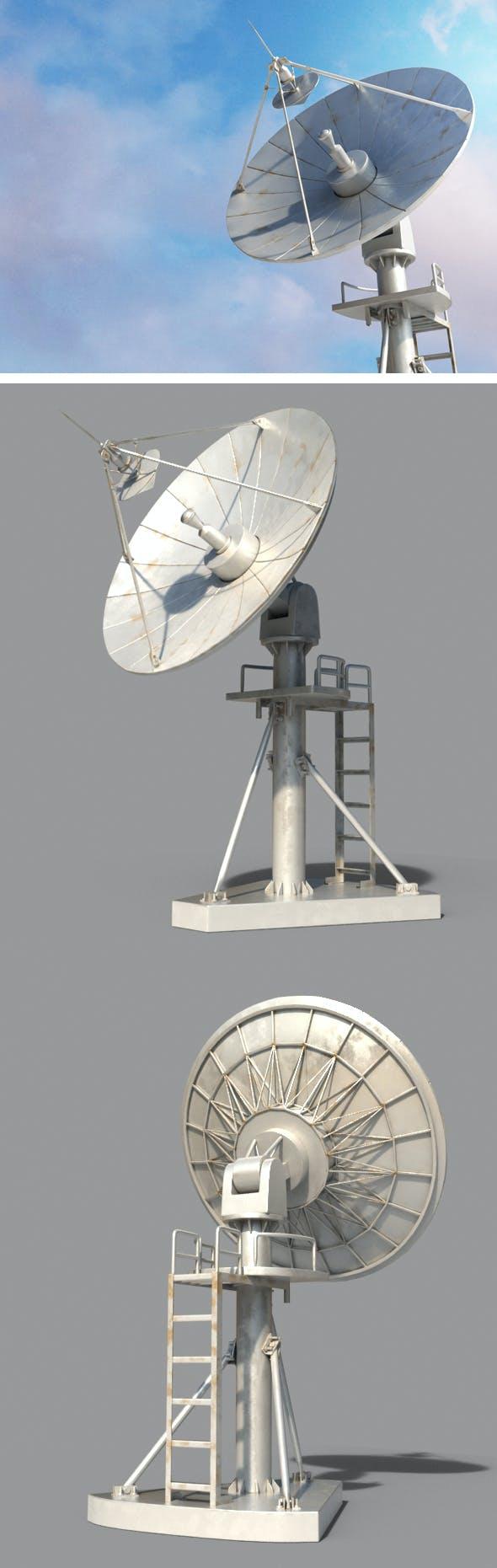 Radio Satellite - 3DOcean Item for Sale