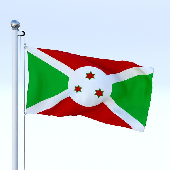 Animated Burundi Flag - 3DOcean Item for Sale