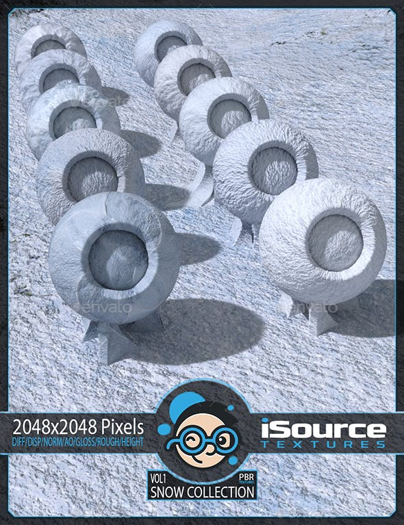 Snow Collection - Vol1 (PBR Textures) Merchant Resource - 3DOcean Item for Sale