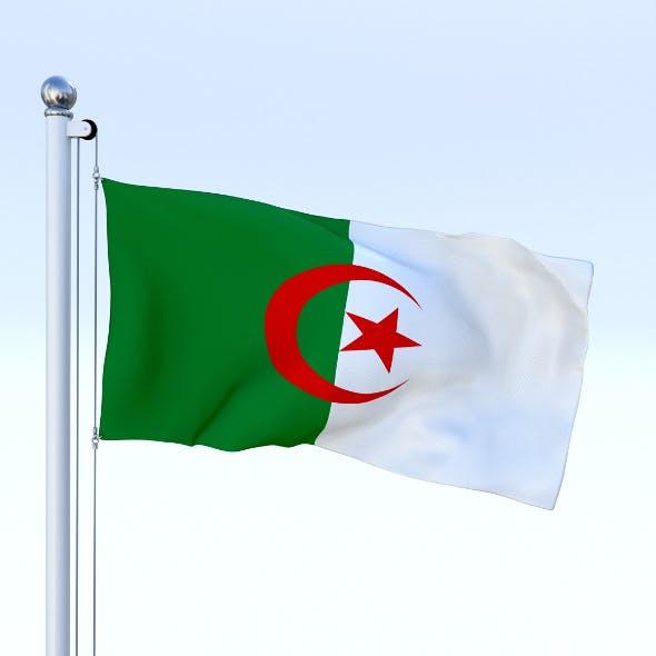 Animated Algeria Flag - 3DOcean Item for Sale