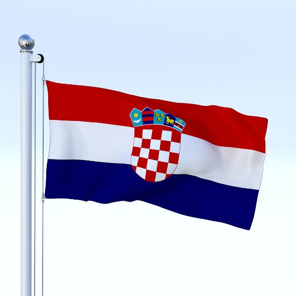 Animated Croatia Flag - 3DOcean Item for Sale