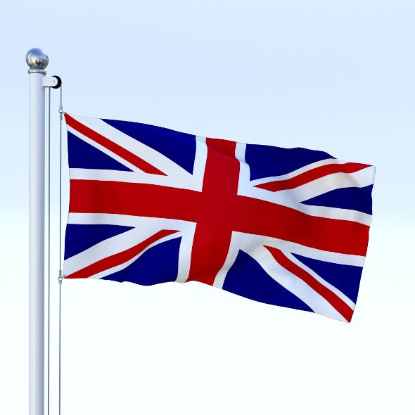 Anmated Great Britain Flag