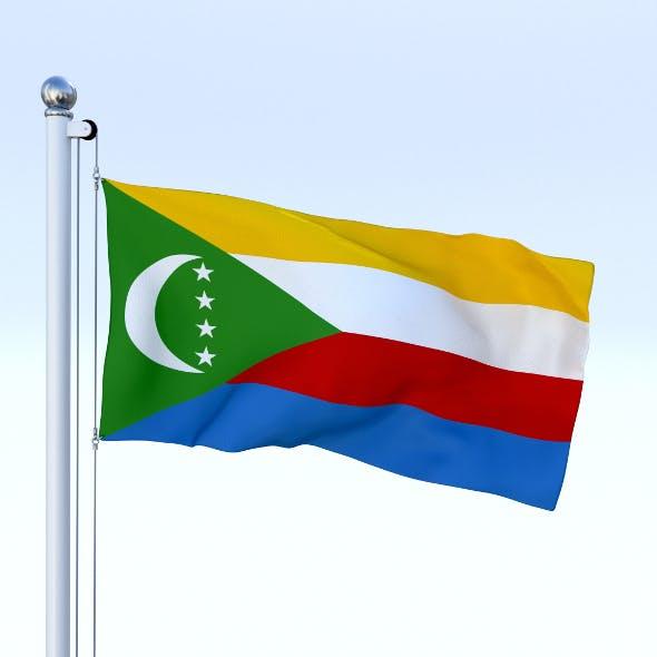 Animated Comoros Flag - 3DOcean Item for Sale