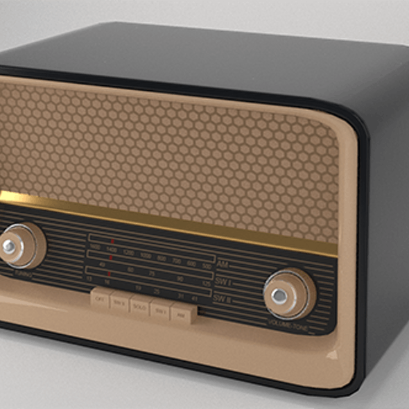 Low Poly Vintage 50s Radio