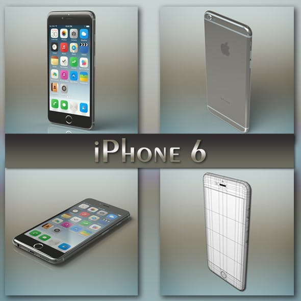 iPhone 6 Gray - 3DOcean Item for Sale