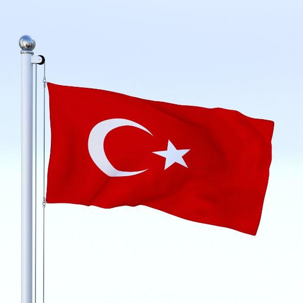 Animated Turkey Flag