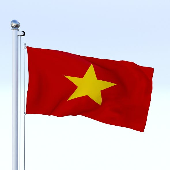 Animated Vietnam Flag - 3DOcean Item for Sale