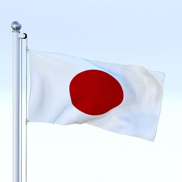 Animated Japan Flag - 3DOcean Item for Sale