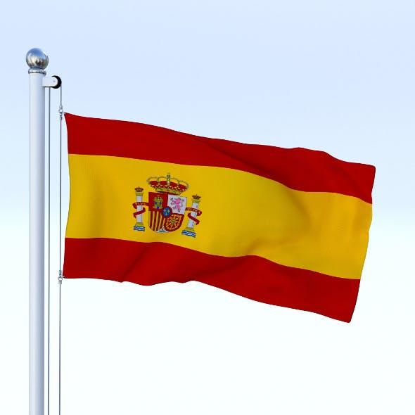 Animated Spain Flag - 3DOcean Item for Sale
