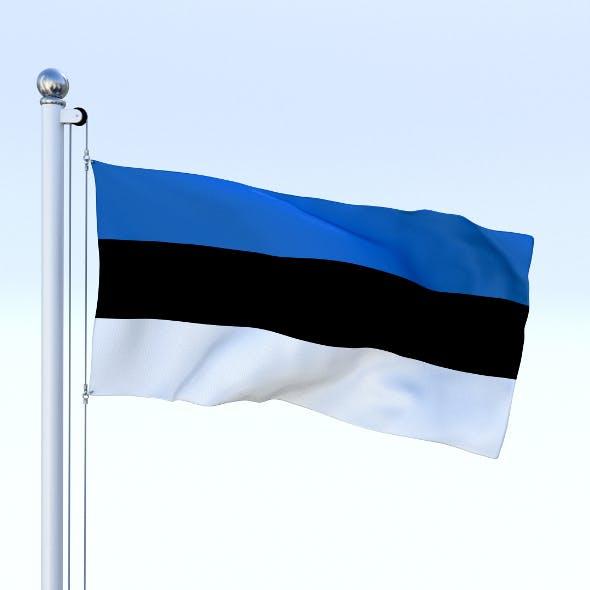 Animated Estonia Flag