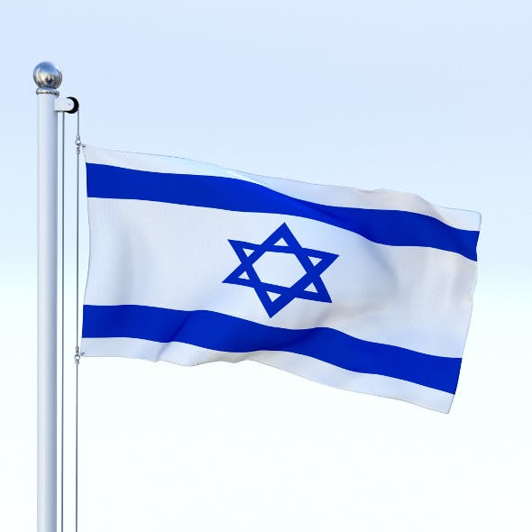 Animated Israel Flag - 3DOcean Item for Sale
