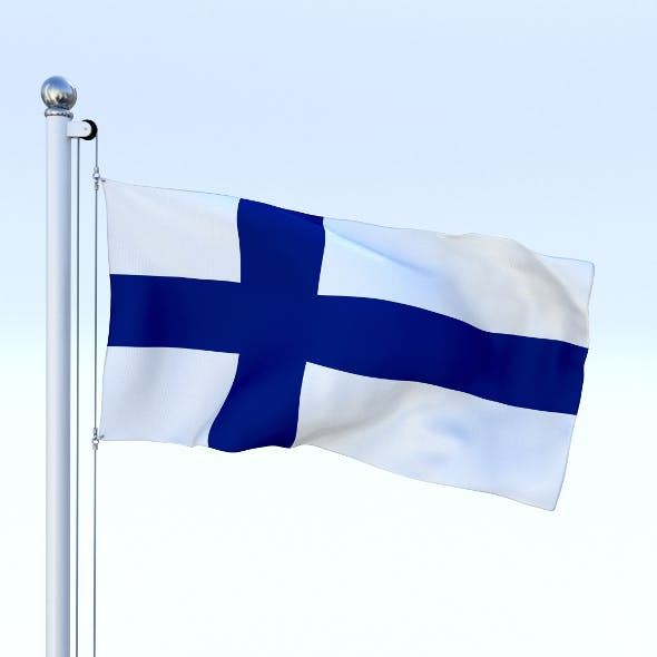 Animated Finland Flag - 3DOcean Item for Sale