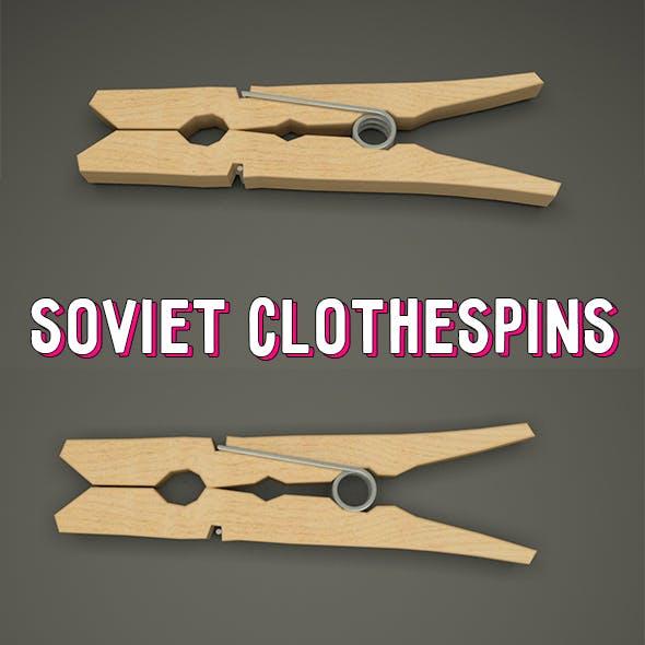 Soviet clothespin