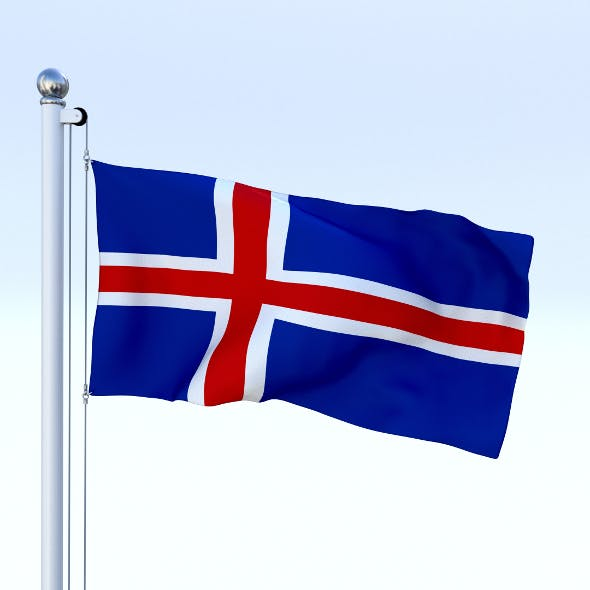 Animated Iceland Flag - 3DOcean Item for Sale