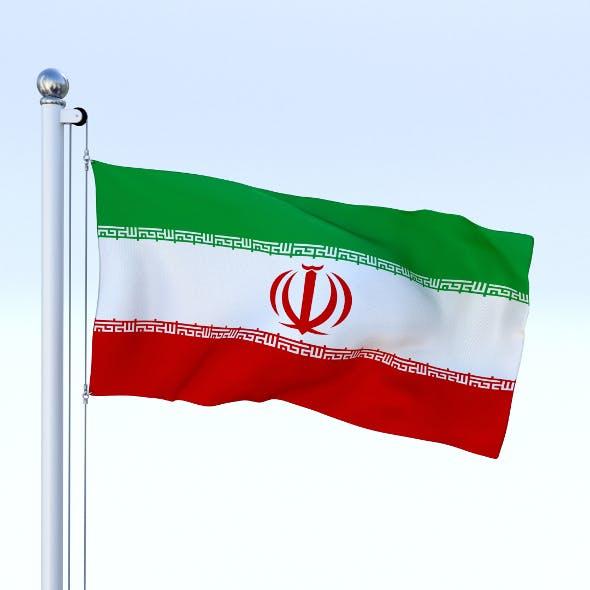 Animated Iran Flag