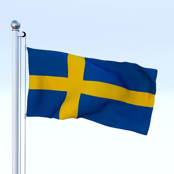 Animated Sweeden Flag - 3DOcean Item for Sale