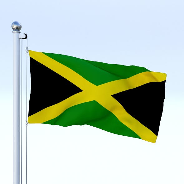 Animated Jamaica Flag - 3DOcean Item for Sale