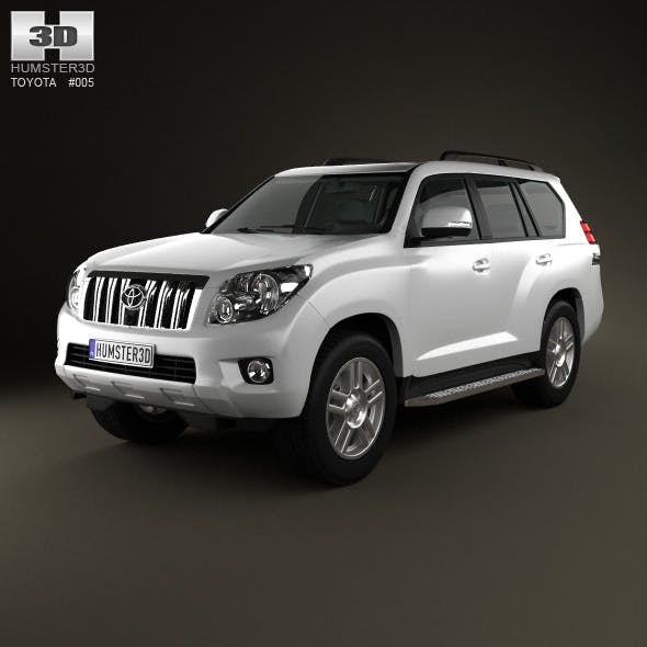 Toyota Land Cruiser Prado 5door 2010 - 3DOcean Item for Sale