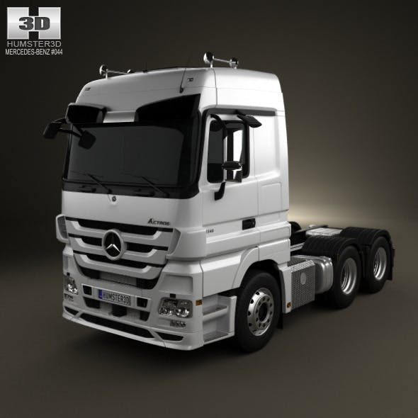 Mercedes-Benz Actros Tractor 3-axis 2011 - 3DOcean Item for Sale