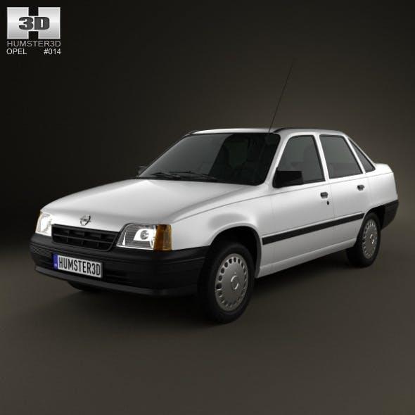 Opel Kadett E Sedan 1984-1991 - 3DOcean Item for Sale