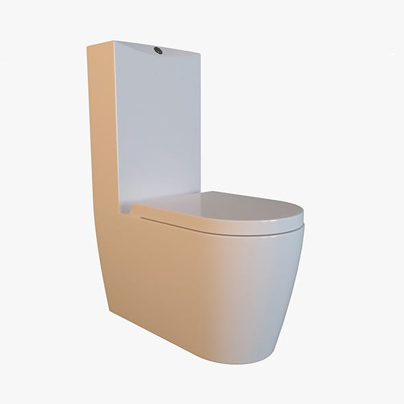 White Acrylic Toilet Bowl