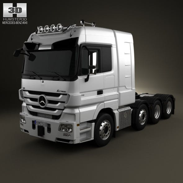 Mercedes-Benz Actros Tractor 4-axis - 3DOcean Item for Sale